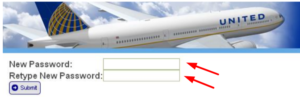 new password for ual passrider